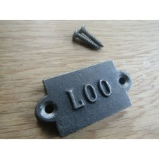 Small Cast Iron 2'' Loo Plaque