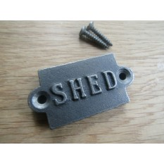 Small Cast Iron 2'' Shed Plaque