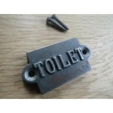 Small Cast Iron 2'' Toilet Plaque