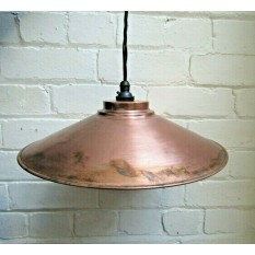 330mm Large Shallow Coolie Shade Antique Copper