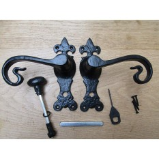 Cast Iron Black Antique Lever Mortise Door Handles
