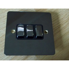 Black Nickel Switch Plate 3 gang 2 way light switch