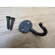 Handforged Bean End 40mm Hook Black Wax