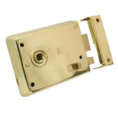"Steel 4"" Rim latch with Snib Brass"