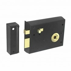 "Steel 4"" Rim latch with Snib Black"