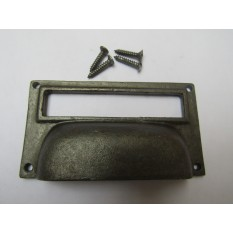 "4"" Large Card Holder Cup Handle antique iron"