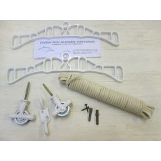 4 Lath Victorian White Clothes Airer Kit Only