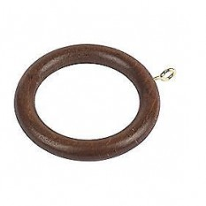 4 Piece Walnut Curtain Rings