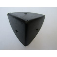 Pack Of 4 Large 70mm Round Chest Corners Black