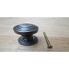 Rimmed With Back Plate Cabinet Knob Antique Iron