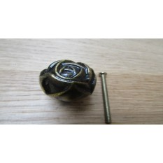 Rose Cabinet Knob Antique Brass