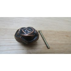 Rose Cabinet Knob Antique Copper