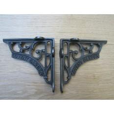 "Pair Of 5"" Covent Garden Shelf Brackets Antique Iron"