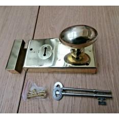 "5.5"" Rim Lock Brass & Oval Rim Brass Set"