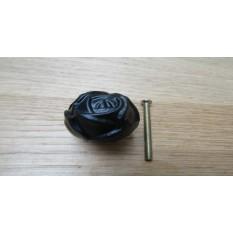 Rose Cabinet Knob Black