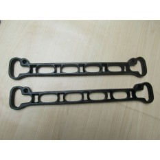 Pack of 2 Cast Iron 6 Hole Ends Black Antique
