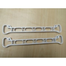 Pack of 2 Cast Iron 6 Hole Ends White