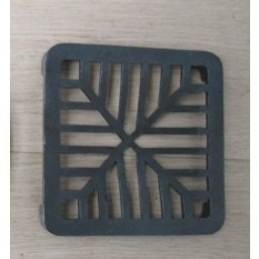 Rustic Cast Iron Gulley Gutter Lid Square Black 6""