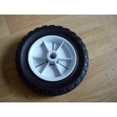 Black Tyre White Center Wheels  - 6 INCH/150MM
