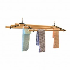 6 Lath Victorian Black Ceiling Airer 2.4m