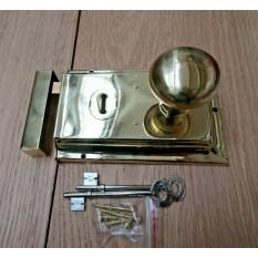 "6"" Rim Lock Brass & Victorian Rim Brass Set"