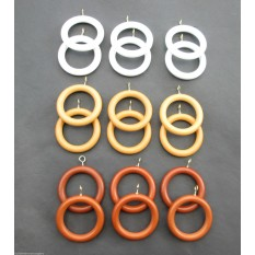 6 Piece Pack Curtain Rings