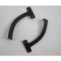 "6""/150MM QUADRANT FANLIGHT ARM STAY-BLACK"