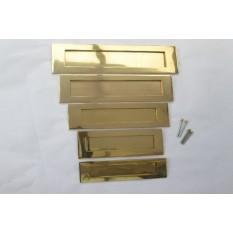 "Plain Letter Plate Polished Brass 14"""