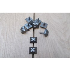 Cast Iron Door Studs Beaten