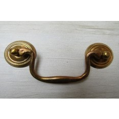 Large Swan Neck Pull Handle Natural Brass