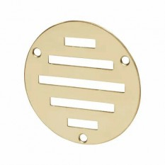 Polished Brass Slotted Air Vent 76mm Circular