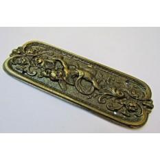 Cherub Finger Plate Antique Brass