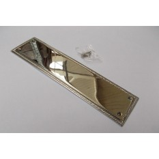 Georgian Pain Ger Door Plate Polished Chrome