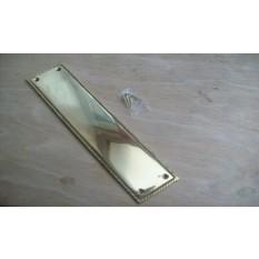 Georgian Pain Ger Door Plate  Brass