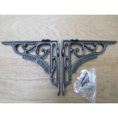 "Pair Of 8"" Covent Garden Shelf Brackets Antique Iron"