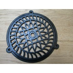 "8"" Circle Round Cover Black Antique"