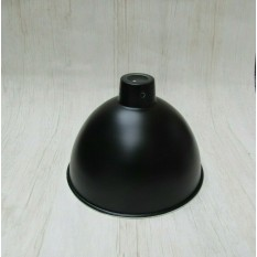 "Retro Light shade 8"" Dome Black"