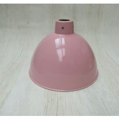 "Retro Light shade 8"" Dome Baby Pink"