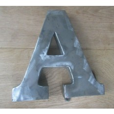 """8"""" Large Rustic Steel Letter A"""