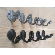 5x Single coat hook vintage victorian
