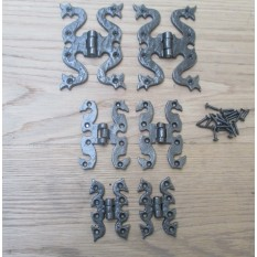 "Butterfly Gothic Door Butt Hinges- AI SMALL 3""/70MM"