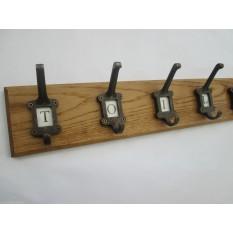 Antique Iron Ceramic Letter Coat Hook Rail