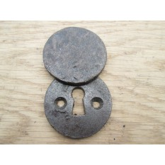 Cast Iron Key Hole Covers Round Covered