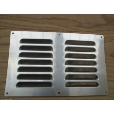 "9"" x 6"" Steel Air Vent Brushed Steel"