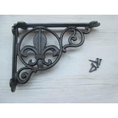 FLEUR DE LYS Black Decorative Bracket