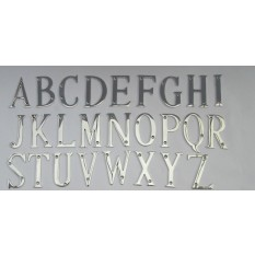 "3"" Polished Chrome Letter A"