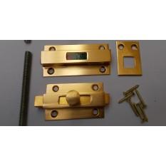 Bathroom door indicator Gold Anodised Aluminium