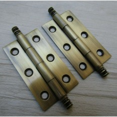 Pair of Cabinet finial Hinges 50mm Antique Brass