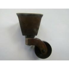 Furniture Square Cup Castor Antique Brass