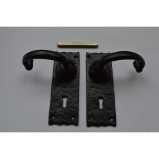 Traditional Black Antique Lock Handle